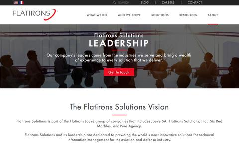 Screenshot of Team Page flatironssolutions.com - Leadership | Content Lifecycle & Asset Management | Flatirons - captured May 17, 2018