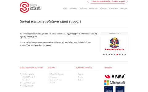 Screenshot of Support Page global-s.nl - Global software solutions - captured Aug. 16, 2017