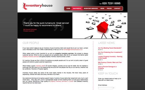 Screenshot of Team Page inventoryhouse.co.uk - Our People at Inventory House | Property Inventory Services - captured Sept. 30, 2014