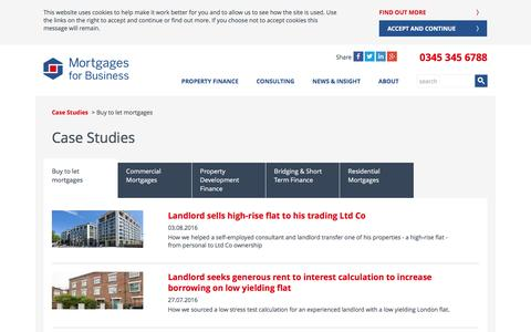 Buy to let case studies | Mortgages for Business
