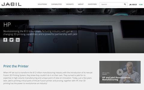 Screenshot of Case Studies Page jabil.com - Case Study: HP & Jabil   Jabil - captured July 6, 2018