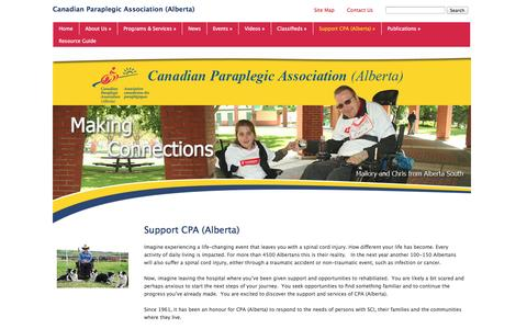 Screenshot of Support Page cpa-ab.org - Support CPA (Alberta) - captured Oct. 1, 2014