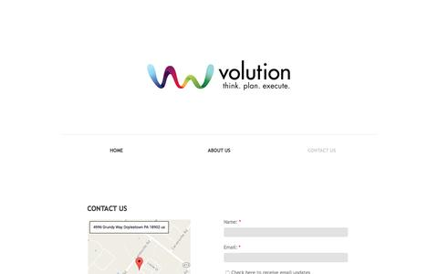 Screenshot of Privacy Page Contact Page v-olution.com - Contact Us - captured Dec. 2, 2016
