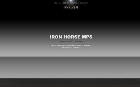 Screenshot of Contact Page ironhorsemps.com - IRON HORSE MPS   CONTACT - captured Oct. 13, 2018