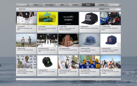 Screenshot of Press Page flexfit.com - Flexfit - captured Sept. 25, 2014