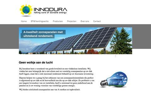 Screenshot of Home Page innodura.nl - Start - captured Sept. 30, 2014