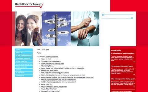 Screenshot of Site Map Page retaildoctor.com.au - Site Map - Retail Doctor GroupRetail Doctor Group - captured Oct. 26, 2014