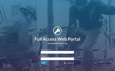 Screenshot of Login Page millenniumdirectional.com - Millennium Directional Drilling Services Ltd. | Login - captured Feb. 13, 2016