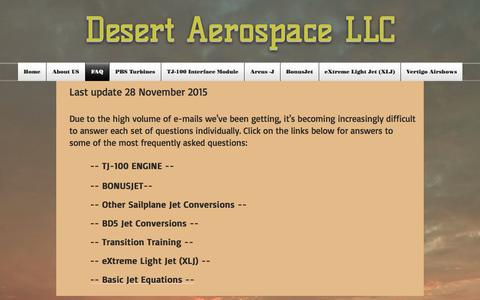 Screenshot of FAQ Page desertaerospace.com - desertaerospace | FAQ - captured Oct. 12, 2017