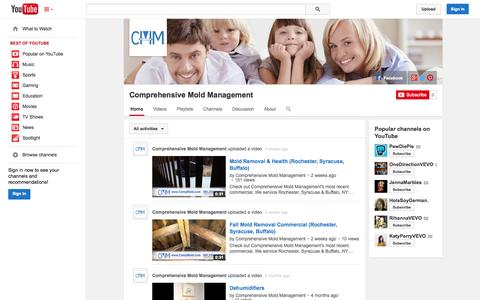 Screenshot of YouTube Page youtube.com - Comprehensive Mold Management  - YouTube - captured Nov. 2, 2014