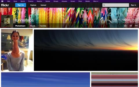 Screenshot of Flickr Page flickr.com - Flickr: funnerlabs' Photostream - captured Oct. 25, 2014