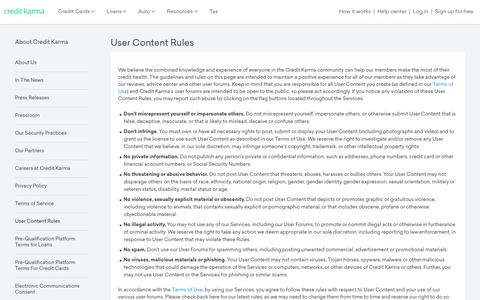 User Content Rules | Credit Karma