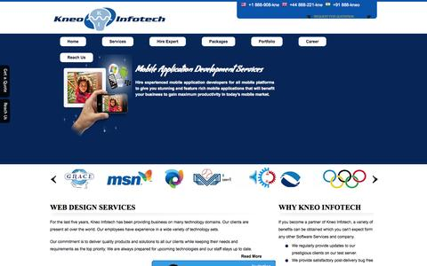 Screenshot of Home Page Privacy Page Site Map Page kneoinfotech.com - Web Design Company Website Development Services SEO Services India - captured Sept. 30, 2014