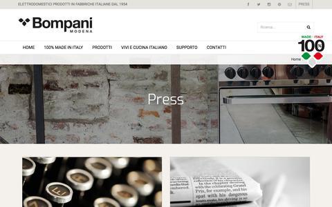 Screenshot of Press Page bompani.it - Press - BOMPANI - captured Oct. 10, 2017