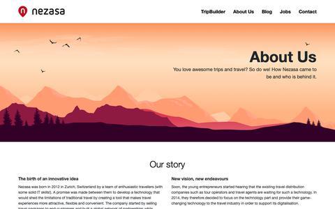 Screenshot of About Page nezasa.com - About Us - Nezasa AG - captured Dec. 11, 2018