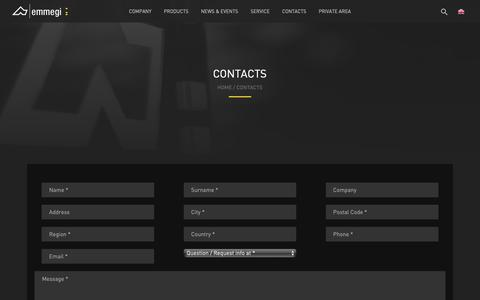 Screenshot of Contact Page emmegi.com - Contacts - Emmegi - captured Sept. 28, 2018