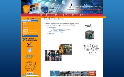 Screenshot of Services Page chromaintegrated.com - Engineering Product & Services - captured Oct. 2, 2014