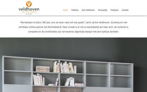 Screenshot of Home Page veldhoveninterieurs.nl - Welkom bij Veldhoven Interieurs uit Bilthoven - Veldhoven Interieurs - captured Nov. 29, 2016