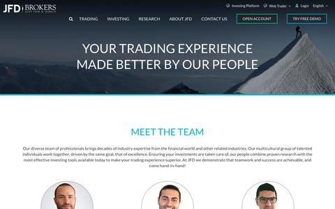 Screenshot of Team Page jfdbrokers.com - Meet the Team   Our Team   JFD Brokers - captured Oct. 1, 2018