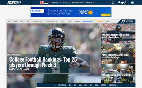 Screenshot of Home Page fansided.com - FanSided - Sports News, Entertainment, Lifestyle & Technology - 280+ Sites - captured Sept. 18, 2014