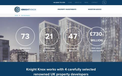 Screenshot of Developers Page knightknox.com - Property Developers - Knight Knox - captured Nov. 27, 2016