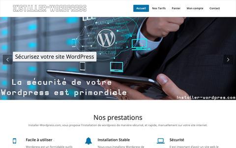 Screenshot of Home Page installer-wordpress.com - Installer-Wordpress.com - Installer et sécuriser Wordpress pas cher - captured Oct. 24, 2018