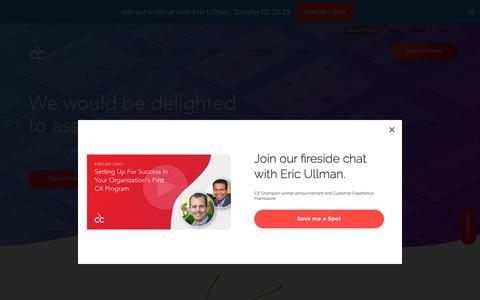 Screenshot of Contact Page cloudcherry.com - Contact Us | CloudCherry - CloudCherry - captured Feb. 26, 2019