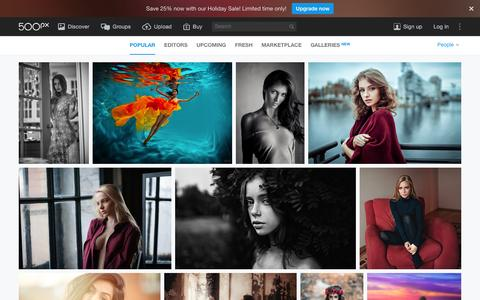 Screenshot of Team Page 500px.com - Most Popular People Photos on 500px Right Now - captured Dec. 20, 2015