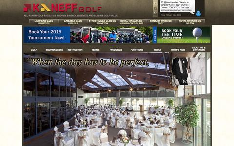 Screenshot of Home Page Press Page kaneffgolf.com - Kaneff Golf - captured Sept. 30, 2014