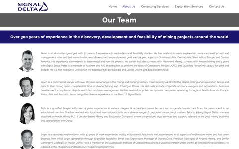 Screenshot of Team Page signal-delta.com - Our Team – Signal Delta - captured Sept. 21, 2018