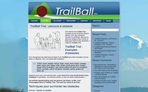 Screenshot of Trial Page trailball.net - TrailBall Trial : Course Balle Obstacle Urbain Nature Cross - captured May 10, 2017