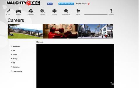 Screenshot of Jobs Page naughtydog.com - Naughty Dog | Naughty Dog - captured Aug. 15, 2016