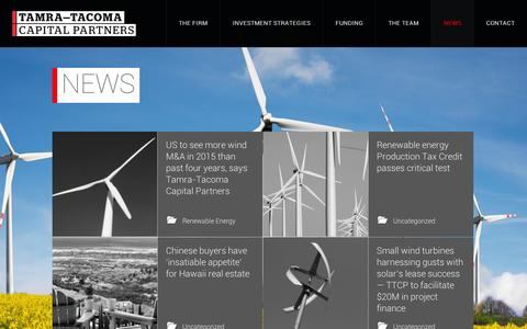 Screenshot of Press Page tamratacoma.com - Tamra-Tacoma Capital Partners | US to see more wind M&A in 2015 than past four years, says Tamra-Tacoma Capital Partners - captured Sept. 12, 2014