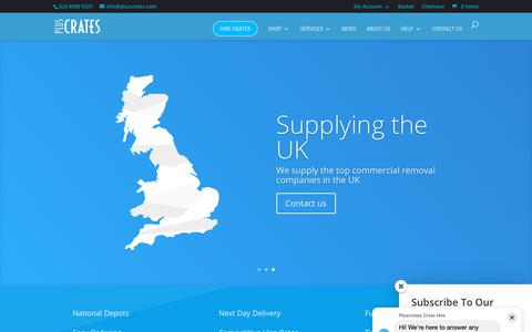 Screenshot of Home Page pluscrates.com - Crate Hire   Pluscrates   UK Crate Rental for Moving Home, Office, Storage - captured June 12, 2019