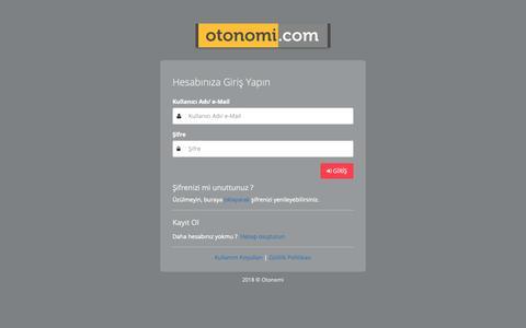 Screenshot of Login Page otonomi.com - .: OTONOMİ YÖNETİM PANELİ :. - captured Nov. 2, 2018
