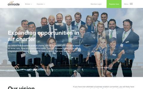 Screenshot of About Page avinode.com - About Avinode - captured July 27, 2016