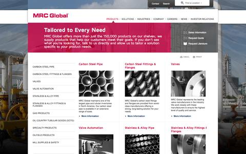 Screenshot of Products Page mrcglobal.com - Products for the Energy and Industrial markets - MRC Global - captured Sept. 23, 2014
