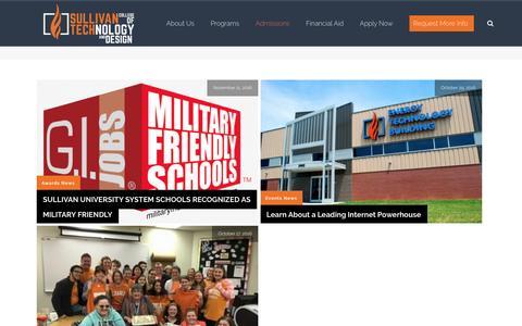 Screenshot of Press Page sctd.edu - News – Sullivan Tech | Technical College + Design School in Louisville KY - captured Dec. 2, 2016