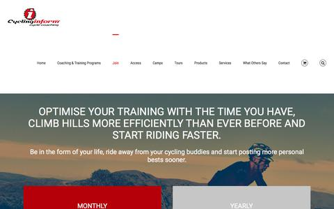 Screenshot of Signup Page cycling-inform.com - Premium Members Area - Join - Cycling-Inform - captured Sept. 3, 2017