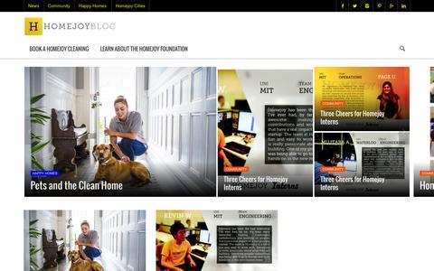 Screenshot of Blog homejoy.com - Homejoy - Everyone deserves a happy home! - captured Sept. 16, 2014