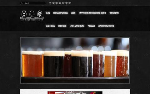 Screenshot of Home Page hopheadsaid.com - HopHeadSaid - HopHeadSaid.HomePage - captured Dec. 11, 2015