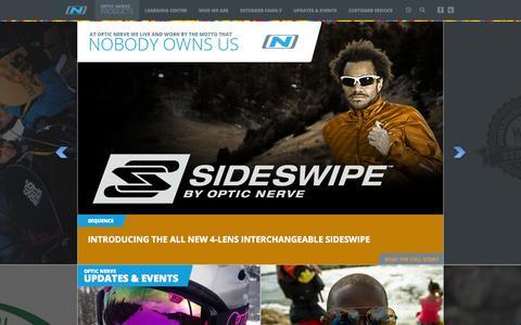 Screenshot of Home Page opticnerve.com - Sunglasses | Goggles | Optic Nerve - captured Oct. 9, 2014