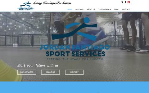 Screenshot of Home Page jordansantiago.net - Jordan Santiago Sport Services - captured May 10, 2016