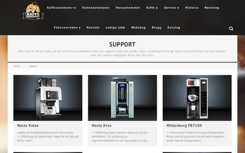 Screenshot of Support Page kaffekompaniet.se - Support - Kaffeautomater och vattenautomater från Kaffekompaniet - captured Oct. 14, 2018