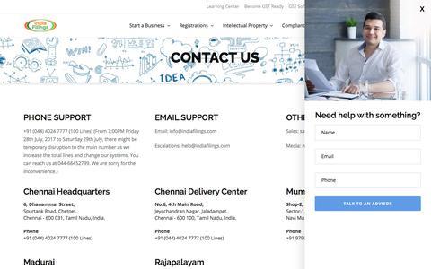 Contact IndiaFilings