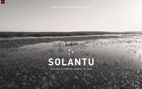 Screenshot of Home Page solantu.com - Solantu | Offered by nature, shaped by man - captured Oct. 7, 2014