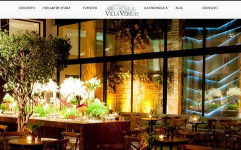 Screenshot of Home Page villaverico.com.br - Villa Vérico  -villa verico-buffet villa verico-buffet sp-o melhor buffet sp-  O melhor buffet de São Paulo - captured Sept. 19, 2014