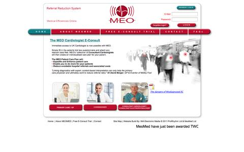 Screenshot of Home Page meomed.co.uk - MEO Home Page - captured Oct. 3, 2014
