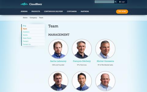 Screenshot of Team Page cloudbees.com - Team | CloudBees - captured Oct. 28, 2014