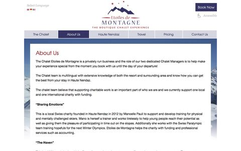 Screenshot of About Page etoilesdemontagne.com - Etoiles de Montagne   » About Us - captured Nov. 3, 2016